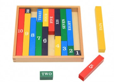 Number Rod - Number Rods Montessori At Stationeryx.pk