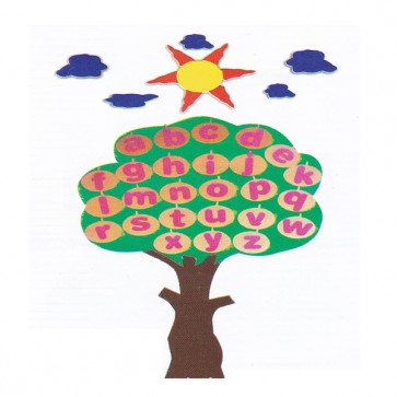 Alphabets Tree Foaming Sheet