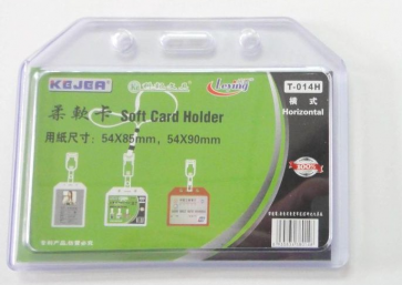 Soft Plastic PVC Id Card Holder