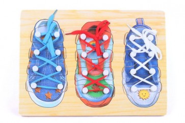 Best Wooden Toys Lace Up Shoe Puzzle For Kids
