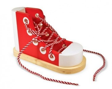 Buy Wooden Lacing Shoe - Kids Learning Toys In Pakistan