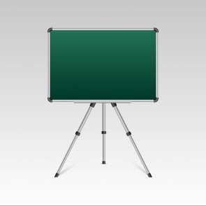 Dual Side Magnetic White Board / Chalk Board 50cmx70cm With Portable Stand
