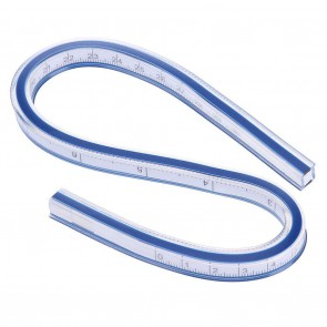 Flexible Double Side Scale Curve Ruler Patchwork Drafting Drawing Tool(30cm)