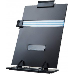 Desktop Document Holder with Adjustable Clip and Line Guide - Copy Holder for A4 Documents