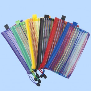 Zippered Mesh Pouches A6 Size