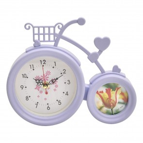Cycle Shape Table Clock With Photo Frame