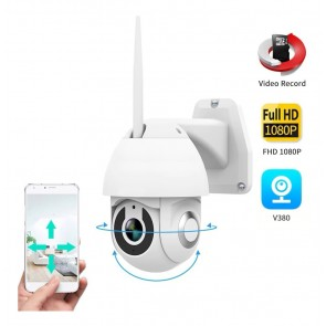 1080P Speed Dome Outdoor Wifi Wireless PTZ IP Security Camera 2MP Two Way Audio SD Card IR Vision Video Home V380