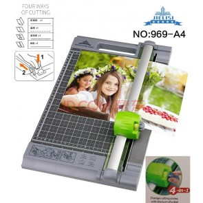 Rotary Cutter 969-A4 cuts in 4 way size A4 cutting capacity 12 sheets