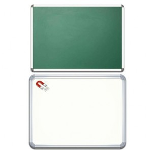 Dual Side Magnetic White Board / Chalk Board 45cmx60cm Without Stand