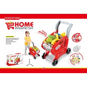 27 PCS Fruit and vegetable Accessories Children Kitchen Educational Toys Shopping Cart