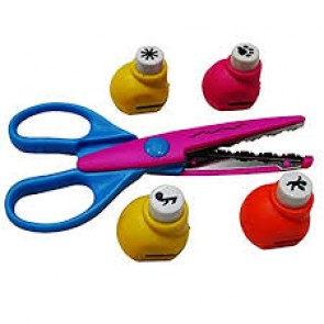 DIY Craft Punch 4 in 1  Mix Shapes With Scissor