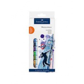Faber-Castell set Water Colors, wallet of 12, 12x 12 ml tube