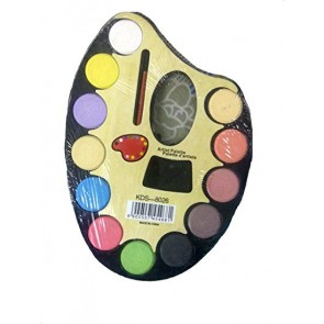 Water Color Artist Palette With Paint Brush & 12 Colors KDS-8026