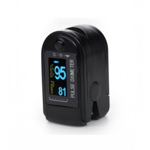 Finger Pulse Oximeter With OLED Display (Includes Lanyard) Black/White Any Color