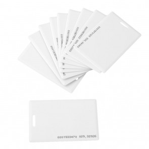 Plain RFID Card White Clam-shell