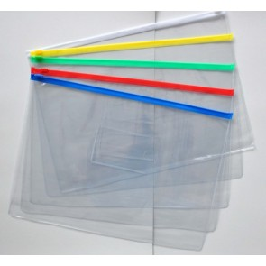 PVC Zip Transparent Pouch A6 With Name Pocket