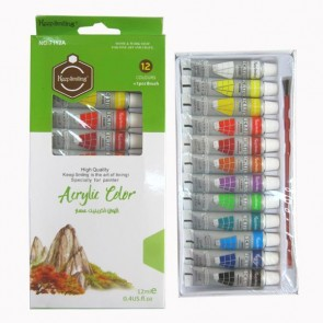 Multi Colors Keep Smiling Acrylic Colors Set 12 Pieces