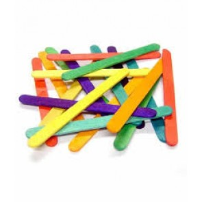 Colored Wooden Ice Cream Sticks Popsicle Sticks Large