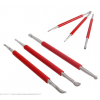 3 Pcs Plastic Pen Double Head Sculpting Carving Pottery Making Polymer Clay Tool