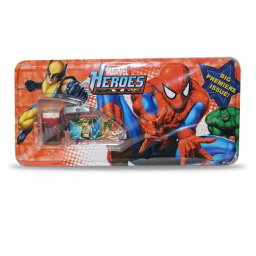 marvel heroes tin geomatric box