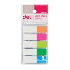 Deli Memo Paper 44*11mm Flag 5 color (E9062)