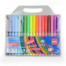 Deli Water Color Pen  (18/Bag)  (E37170)