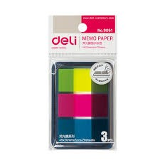 Deli Memo Paper 45*20mm Flag 3 color (E9061)