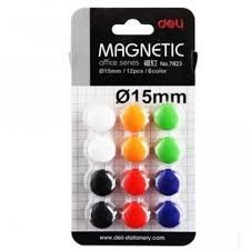Deli Magnet ɸ15mm (12/pack) (E7823)