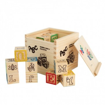 Wooden Blocks - ABC Wooden Blocks - 27 Piece Wooden Blocks