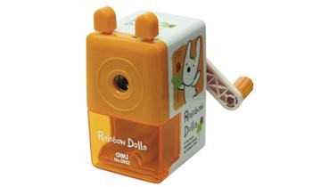 Deli Rotary Pencil Sharpener (Rainbow Dolls) E0642