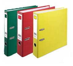 "Deli Lever Arch File A4 3"" (Colourful) (E39590)"