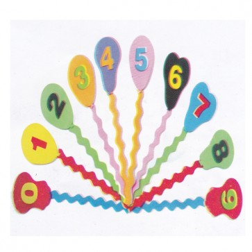 Counting Balloons Foaming Sheet