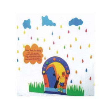 Rain Rain Go Away (Poem) Foaming Sheet