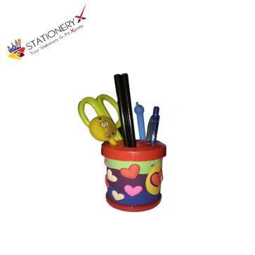 Heart Cartoon Pencil Holder - Pen Stand - Pen Holder
