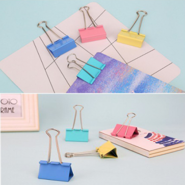Deli Colorful Binder Clip 8552A
