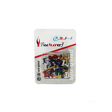 Burooj Colorful Push Pin Pack