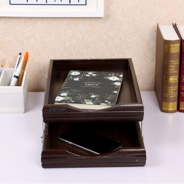 2 Step Wooden Latter Tray & Paper Organizer Tray For Offices - 7722-1
