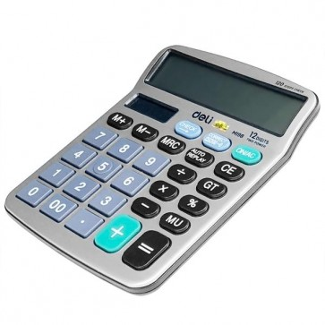 Deli (M19810) 12-Digit Desk Calculator Medium Size