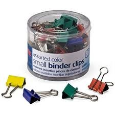 Deli Color Binder Clip 15mm (Tube) (E8556A)