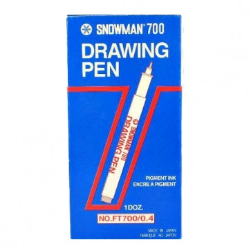Snowman Drawing Marker Black FT-700