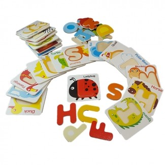 ABC Wooden Digital Puzzle Card - Puzzle Toys For Toddlers Online In Pakistan