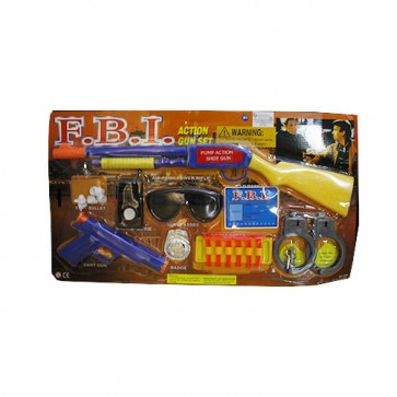F.B.I Playing Set - Gun Toys - Toy Guns Pistols At Stationeryx