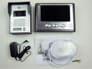 "7""LCD monitor speakerphone door phone doorbell color video intercom night vision unlock system RL-037"