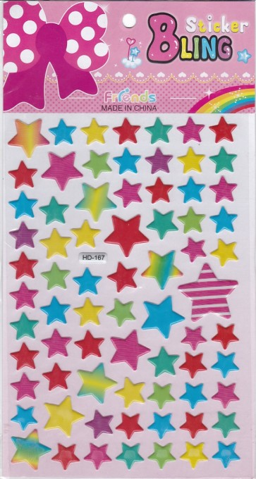 Color Full Star Stickers