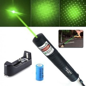 Green Laser Pointer 303 with Safety Key & Charger