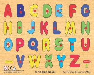 ABC Wood Learning Plates - Kids Learning Toys