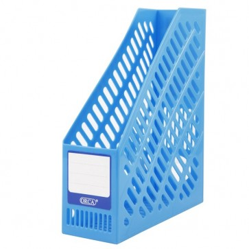 Magazine Holder Blue Plastic