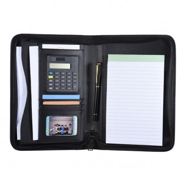 PU Leather Memo Pad Holder With Calculator