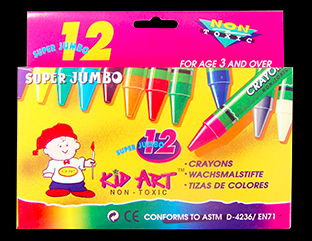 Crayons12 pcs Super Jumbo size ( Any Brand )
