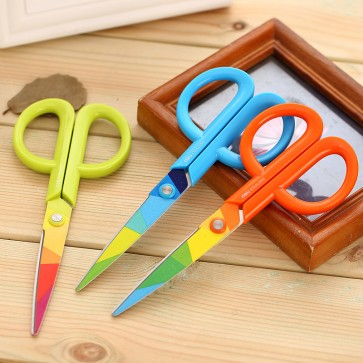 DELI Colorful Stainless Steel Scissors 6062
